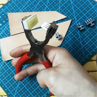 handmade DIY Leather Craft Tools Hole Punches Stitching Tool 2+4 tooth 4mm