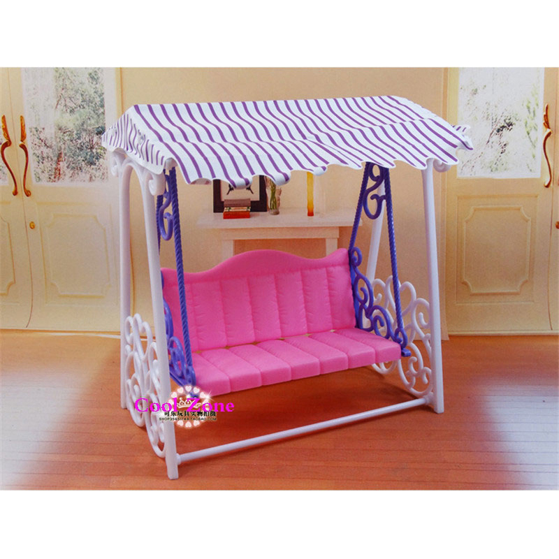 Miniature Furniture My Fancy Life Garden Swing Set for Barbie Doll House Best Gift Toys for Girl Free Shipping