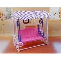 Miniature meubles mon fantaisie vie jardin balançoire pour barbie poupée maison meilleur cadeau toys pour fille livraison gratuite