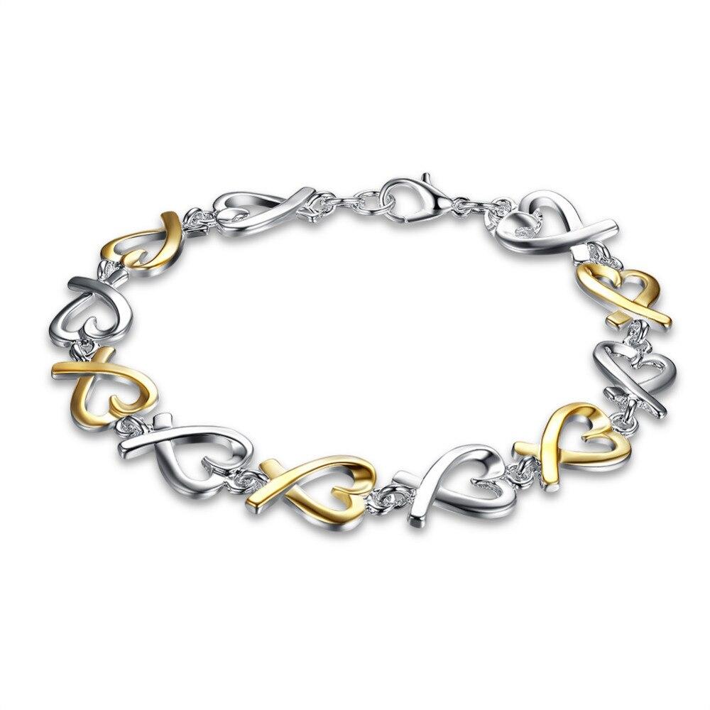 1a767ae6bdb6 Venta caliente 925 pulsera de moda de joyería de plata color separación  calidad superior al por mayor y al por menor SMTH047