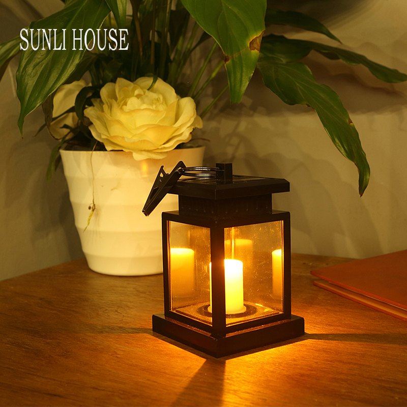 Charming SUNLI HOUSE Retro Solar Candle Lights Outdoor Lights LED Solar Lamps  Waterproof Decorative Lighting(China