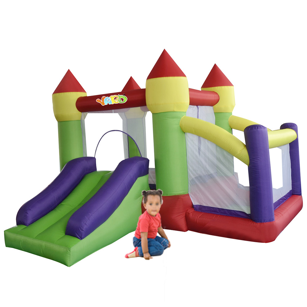 YARD Inflatable Bounce House Combo Slide with Ball Pit Bouncy Castle for Children Special Offer for Hot Zone landscape photo frame of the living room of the paris tv tower living tv background wallpaper wallpaper wall canvas
