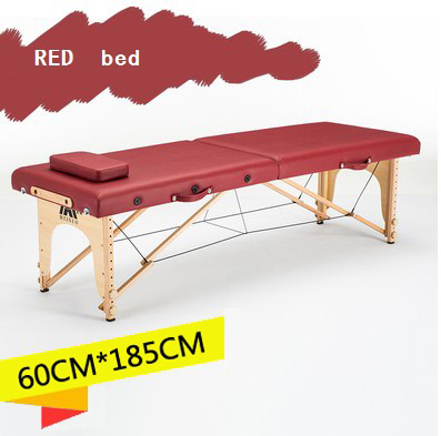 185cm*60cm Bed+bed Cover+pillow Spa Tattoo Beauty Furniture Portable Foldable Massage Bed Patio Facial Salon Massage Table(China)
