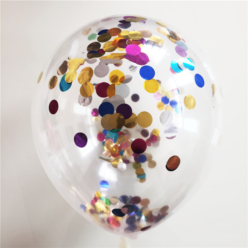 5pcs/lot 12inch colorful Inflatable  Balloons Gold Confetti Balloon wedding Birthday Party Decoration Princess Supplies