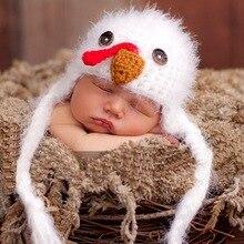 35a46a4db90 Baby Turkey Hat Newborn 0-3m Baby Fuzzy Chick Crochet Soft Animal Photo  Prop Clothes