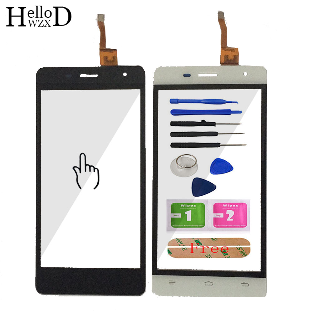 5.0'' Touch Screen Glass For Oukitel K4000 Pro  Front Glass Digitizer Panel Lens Sensor Flex Cable Tools Adhesive Gift