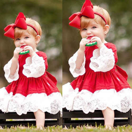 505950524f1c4 Detail Feedback Questions about New Xmas Red Lace Dress Kid Baby ...