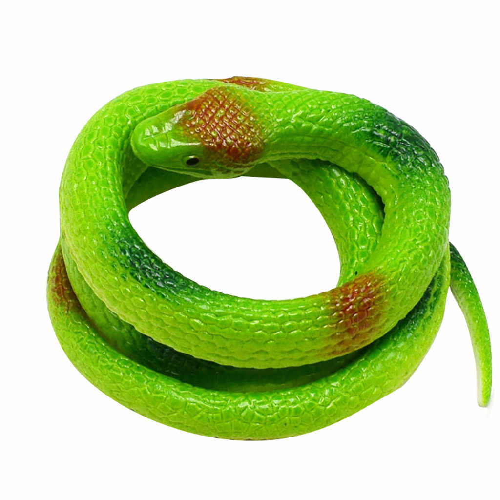 Rubber Snake Pretend Trick Toy Garden Props-Green Loot Party Bag Fillers