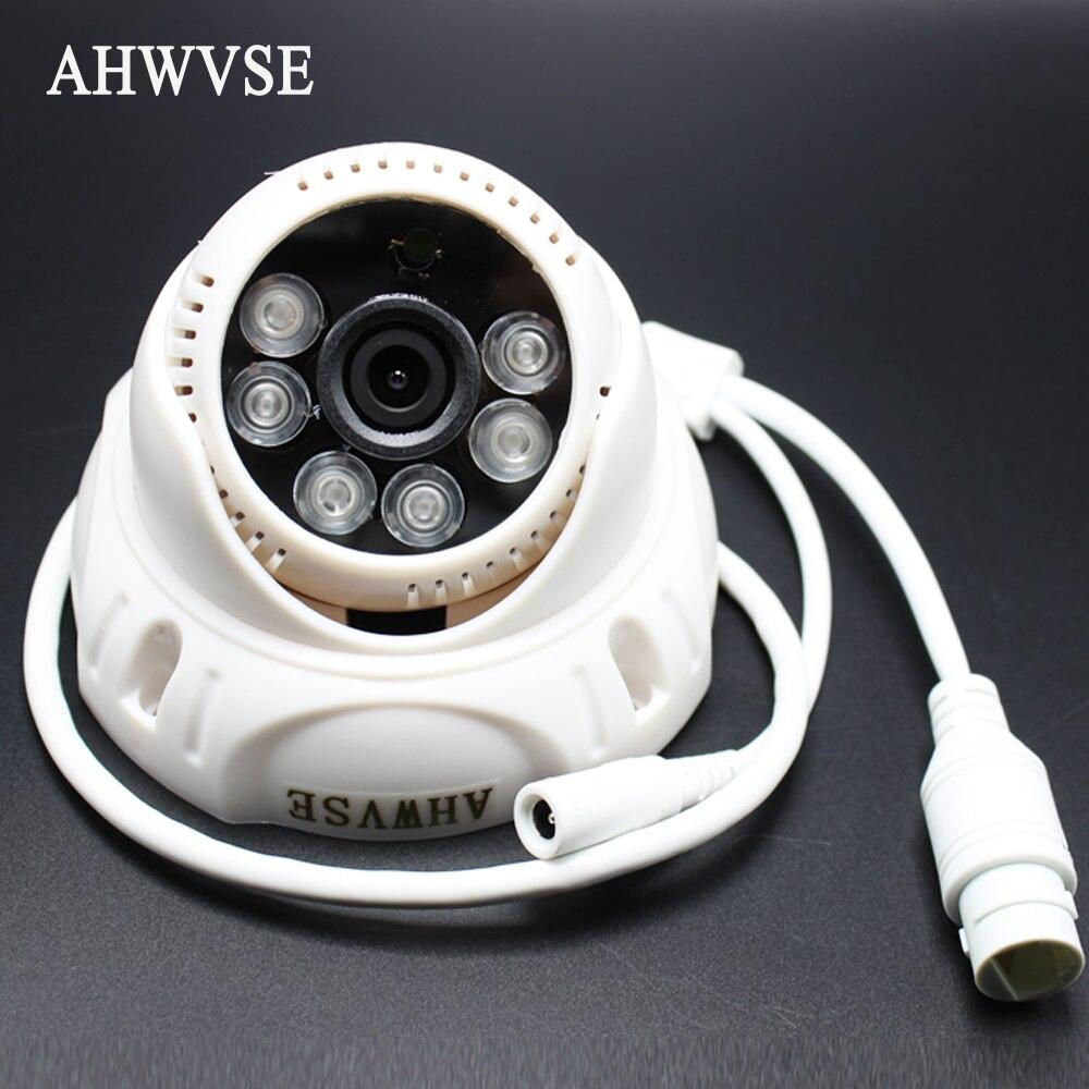 AHWVSE IP Audio POE 2MP Caméra IP H.264 Caméra avec microphone 1080 P 960 P 720 P Mini Dôme IP CCTV Caméra Intérieure ONVIF P2P