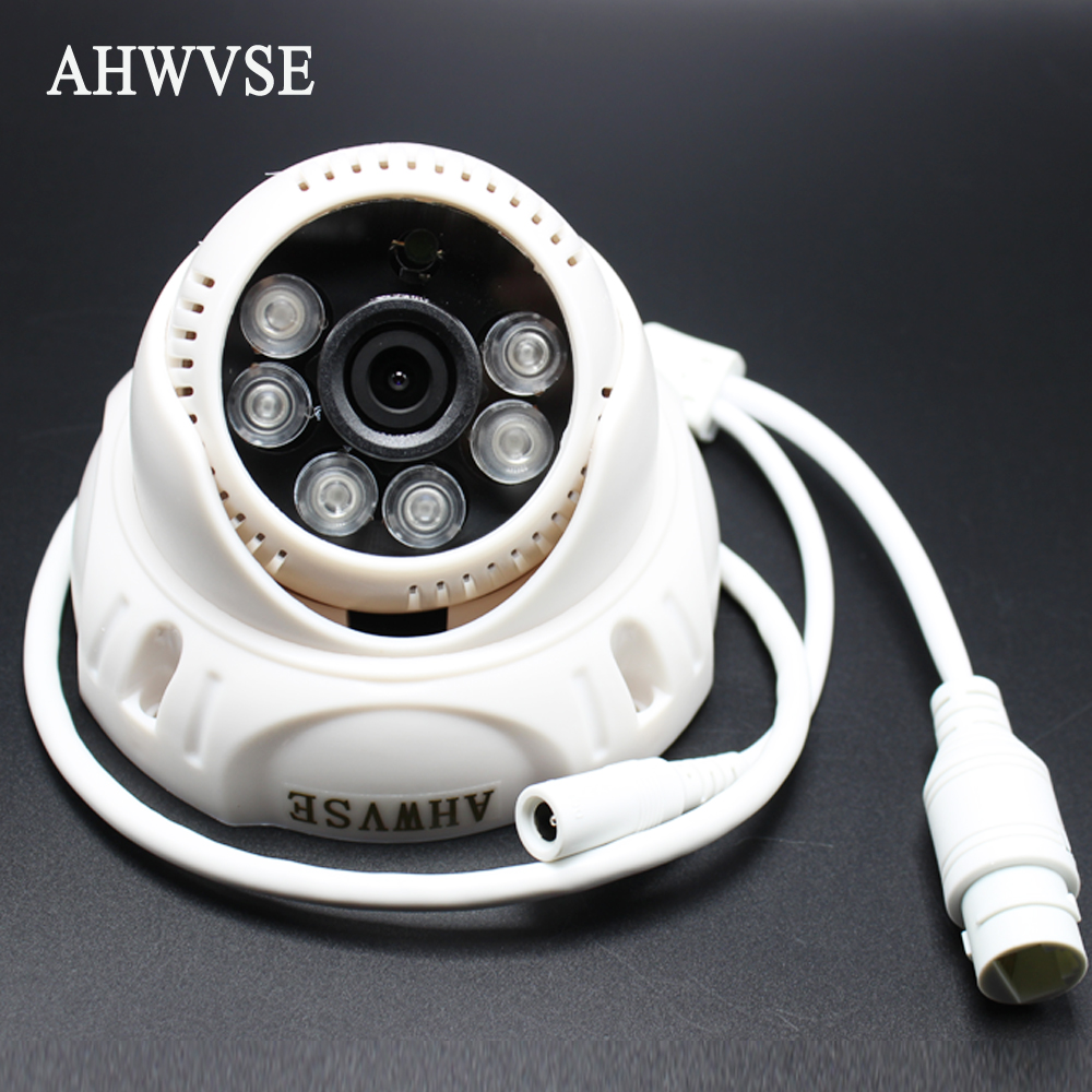 AHWVSE IP Audio POE 2MP Camera H.264 IP Camera with microphone 1080P 960P 720P Mini Dome IP CCTV Camera Indoor ONVIF P2P