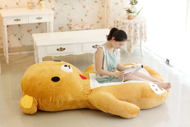 Cute Rilakkuma easily washable tatami mattress sleeping bag cartoon character bear beanbag sofa