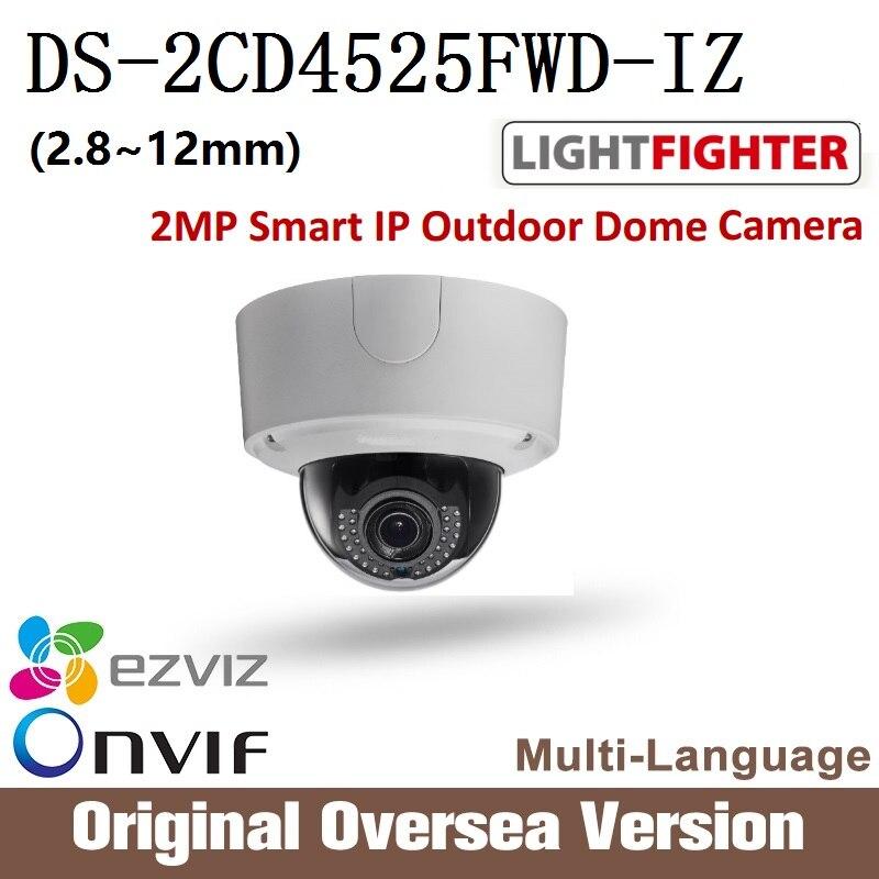 Hikvision  Ip dome Camera DS-2CD4525FWD-IZ 1080p Poe Ip67 H265 cctv security WDR Onvif RJ45 original English Version upgrade hikvision ds 2cd4a25fwd iz 2mp smart ip camera cctv bullet 1080p poe ip67 ir english version h265 wdr onvif rj45 lightfighter