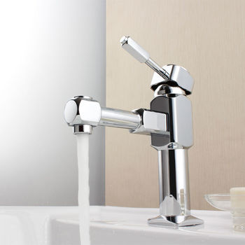 Modern Chrome Single Lever Basin Tap Waterfall Faucet for Kitchen and Bathroom