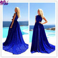 Summer New Fashion Maternity Blue Solid Patchwork Lace Evening Long Dress Sleeveless O Neck Women Party Maxi Dress Photo Props