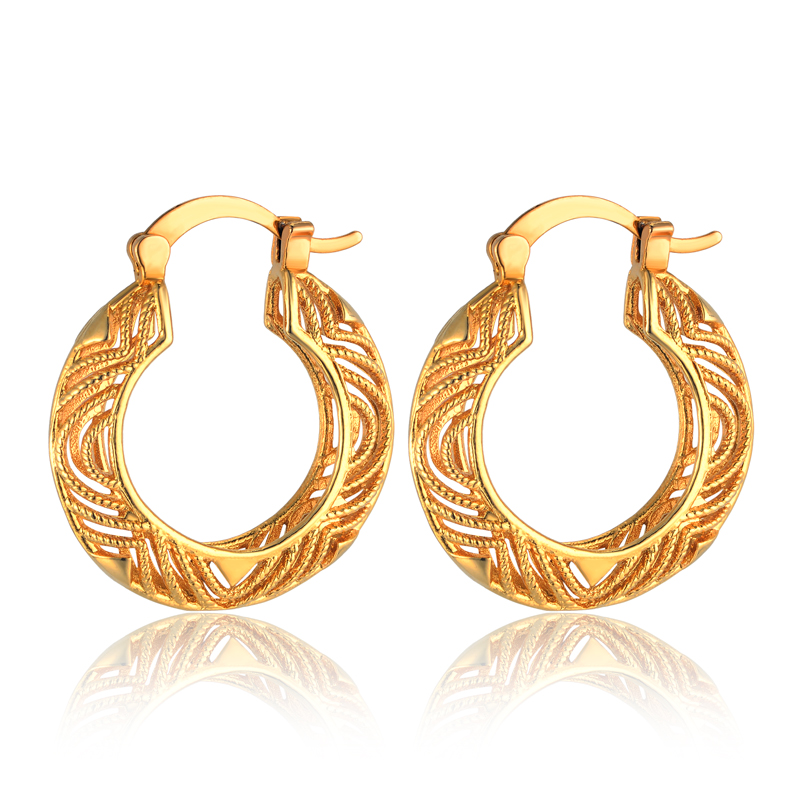 Double Circle Large Hoop Earrings For Women Ladies Gold Color Basketball Wives Wedding Office Jewelry Hot Sale pendientes aros