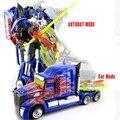 Hotsale Optimus prime Autobot de transformación de juguete FiguresToys acción regalo de cartón para niños chritmas
