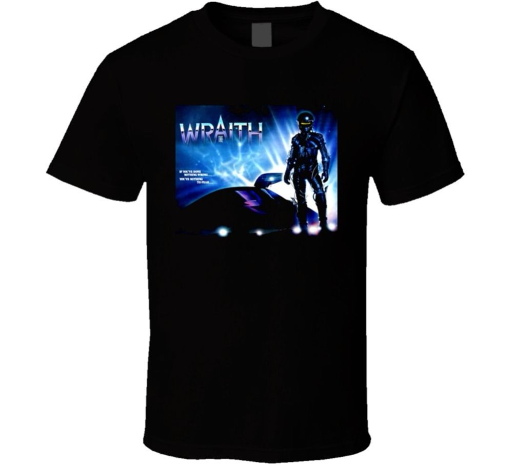 Summer 2018 New The Wraith 80's Sci Fi Movie T Shirt Funny Printing T Shirts Men Short Sleeve T-shirts image
