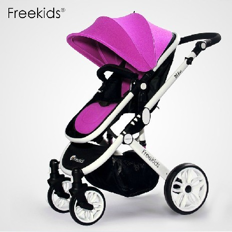 Five-point Safety Belt,Soft Seat Mattress,Children's Trolleys,Quite Durable Material Fabric,Build Safe Environment for Babies