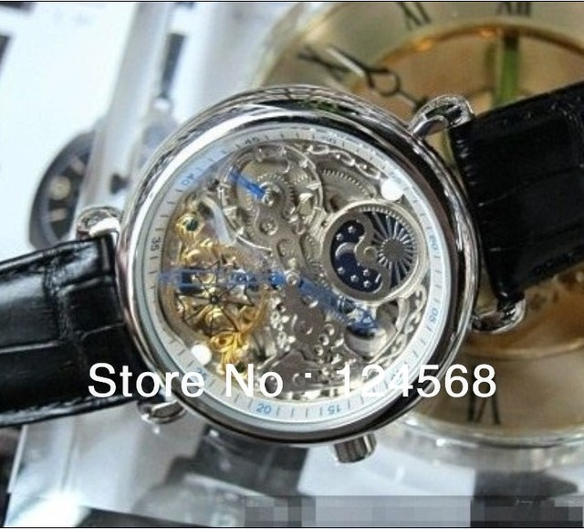 Designer watches Tourbillon Mens Watch-sided hollow automatic mechanical watches men's watches moon phase tables belt