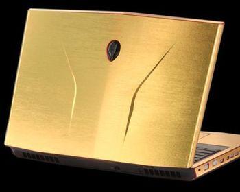 KH-Protector de piel para portátil, pegatina de brillo cepillado para Alienware 14...