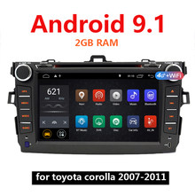 Android 9,1 coche Mp5 reproductor de Video 2G RAM 2 Din Autoradio 2Din para Toyota Corolla 2007-2011 GPS WIFI USB estéreo 46(China)