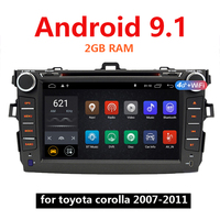 Android 9.1 Car Mp5 Video Player 2G RAM 2 Din Autoradio 2Din for Toyota Corolla 2007 2011 GPS USB WIFI Stereo 46