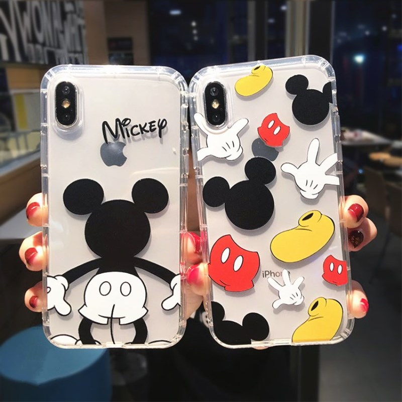 Cartoon Mickey Minnie Mouse Case For iPhone 6 6s 8 X 7 XS MAX XR Cover For iPhone 7 Plus  Pooh Bear Piglet Clear Soft TPU Fundas