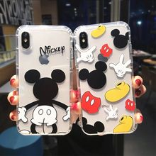 Cartoon Mickey Minnie Mouse Case For iPhone 6 6s 8 X 7 XS MAX XR Cover For iPhone 7 Plus Pooh Bear Piglet Clear Soft TPU Fundas(China)