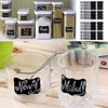 sticker labels for jars NAI YUE 36pcs/set Black Board Kitchen Jam Jar Label Labels Stickers 5*3.5cm Blank Chalkboard Sticker 2