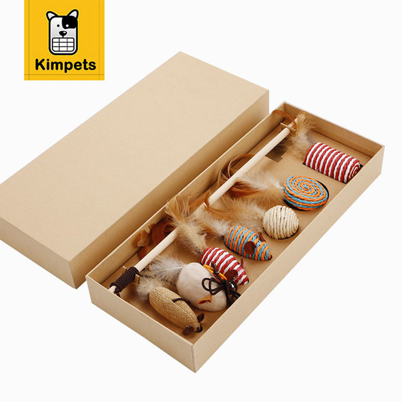 KIMHOME PET Cat Toy Lovely Tease Sticks Set Furniture&Scratchers Cat Tree Scratch Detachable Toy For Pet Kitten Jumping Training