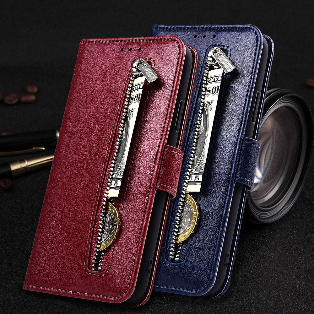 Note 9 Case for Meizu Note 9 Note9 Case Zipper Wallet Flip Leather Case Soft Coque Fundas