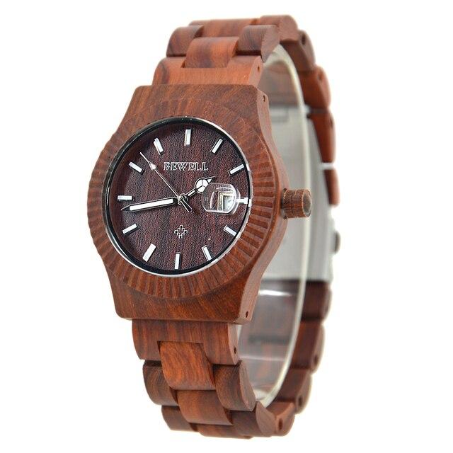 93726eabe02 BEWELL Top Luxo Marca Quartz Analógico Vestido relógios de Pulso Relógio de  Pulso para Homens Masculino