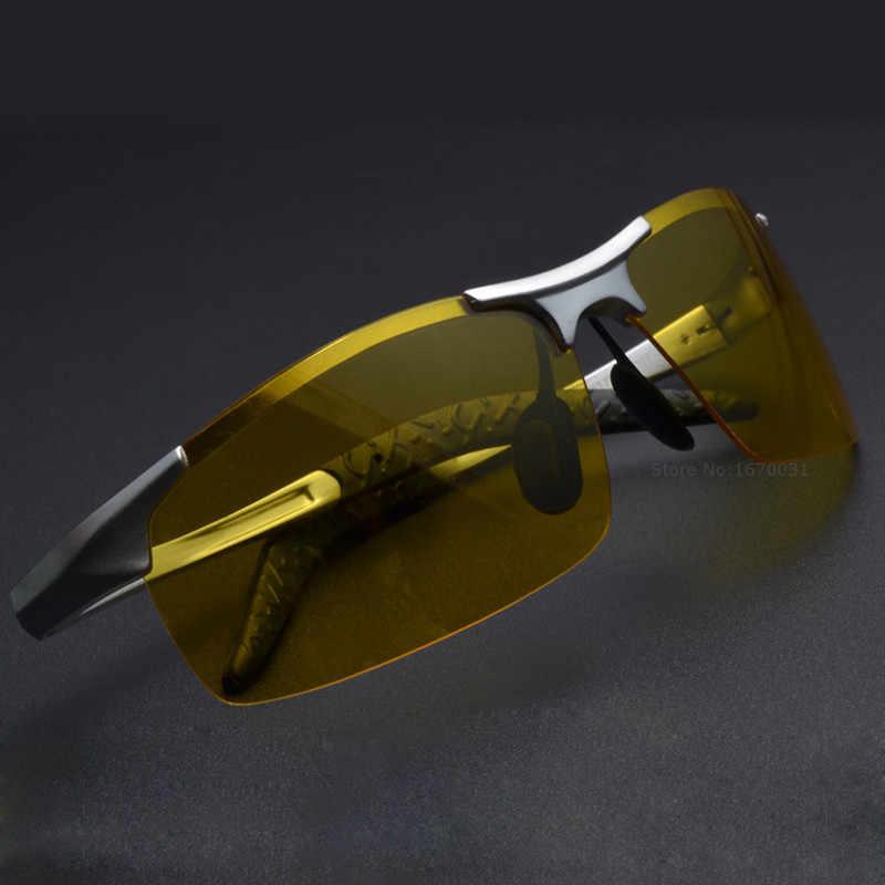 6e61f6929e Hot Sale men s aluminum-magnesium car drivers night vision goggles  anti-glare polarizer sunglasses