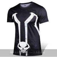 マーベルコミックのスーパーヒーロースポーンtシャツ衣装半袖スポーンシャツ