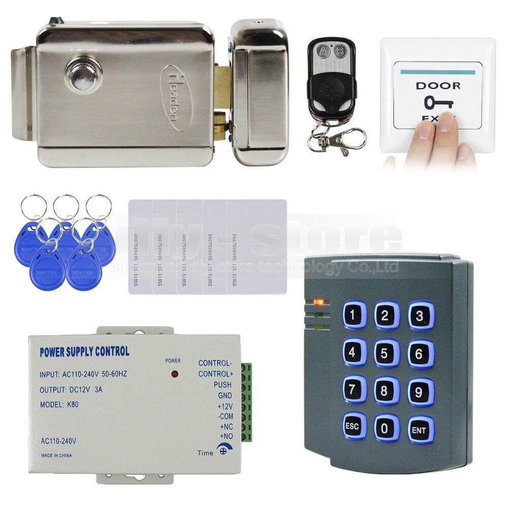 DIYSECUR Completo RFID Sistema di Tastiera di Controllo di Accesso Kit + Serratura Elettrica + Alimentazione per Casa/UfficioDIYSECUR Completo RFID Sistema di Tastiera di Controllo di Accesso Kit + Serratura Elettrica + Alimentazione per Casa/Ufficio