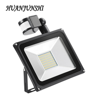 50W 220V Cool White Warm White PIR Motion Sensor LED Floodlight IP65 Outdoor Security LED Flood