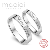 Ring Set His Hers Love Promise Couples Wedding Band Solid 925 Sterling Silver Custom Personalized Jewelry