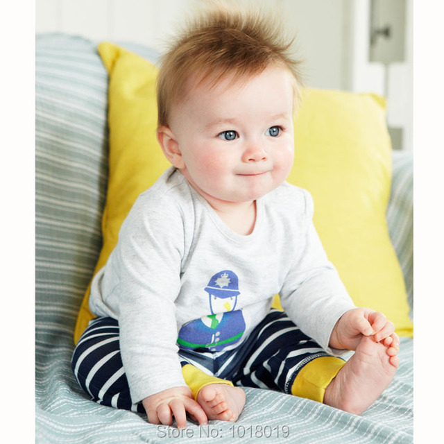 New 2017 Branded Quality 100% Cotton Baby Boys Children Suits 2pcs Kids Toddler Clothing Long Sleeve Clothes Sets Boys Baby Sets