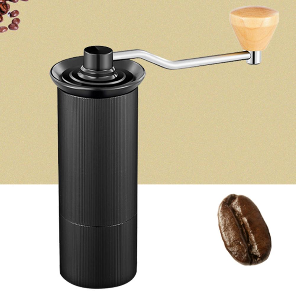 Portable Stainless Steel Wood Manual Handmade Crank Coffee Bean Spices Grinder Mill Herbs Nuts Milling Machine Kitchen Tool