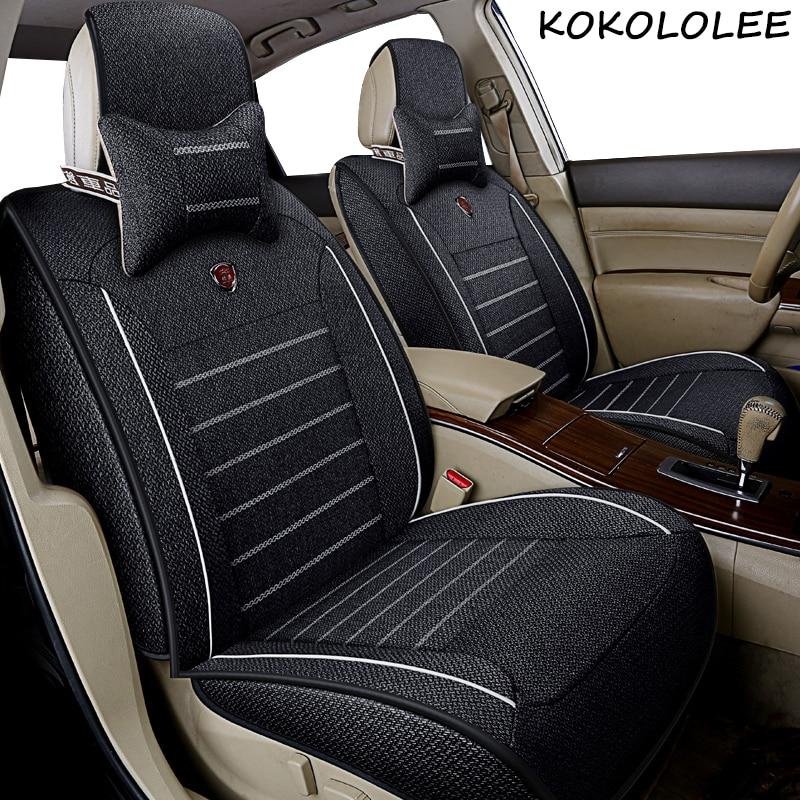 Kokololee универсальные льняные автомобильные чехлы для сидений для Jeep все модели Jeep Grand Cherokee и Renegade compass Commander Cherokee автомобильные аксессуары