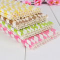 25pcs Drinking Striped Paper Straws Environment Friendly Straws Wedding Birthday Party Supplies