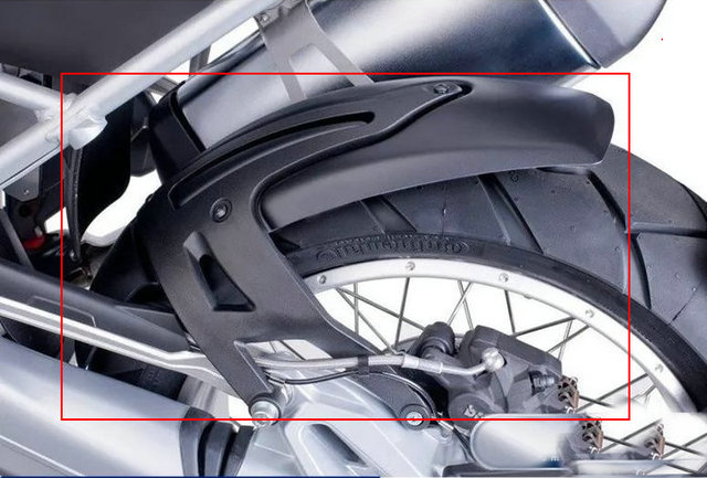 Guardabarros de guardabarros trasero para BMW R1200R R1200RS R1200 R/RS 2015 2016 2017 2018
