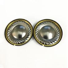 1 Pair 40mm Headphone Titanium Silver Bright Loudspeaker Driver Speaker Unit 32 ohm HiFi Headset DIY