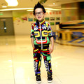 Children's clothing sets spring-autumn  girl boy kid sports suit (coat +pants) male female child set personalized maya