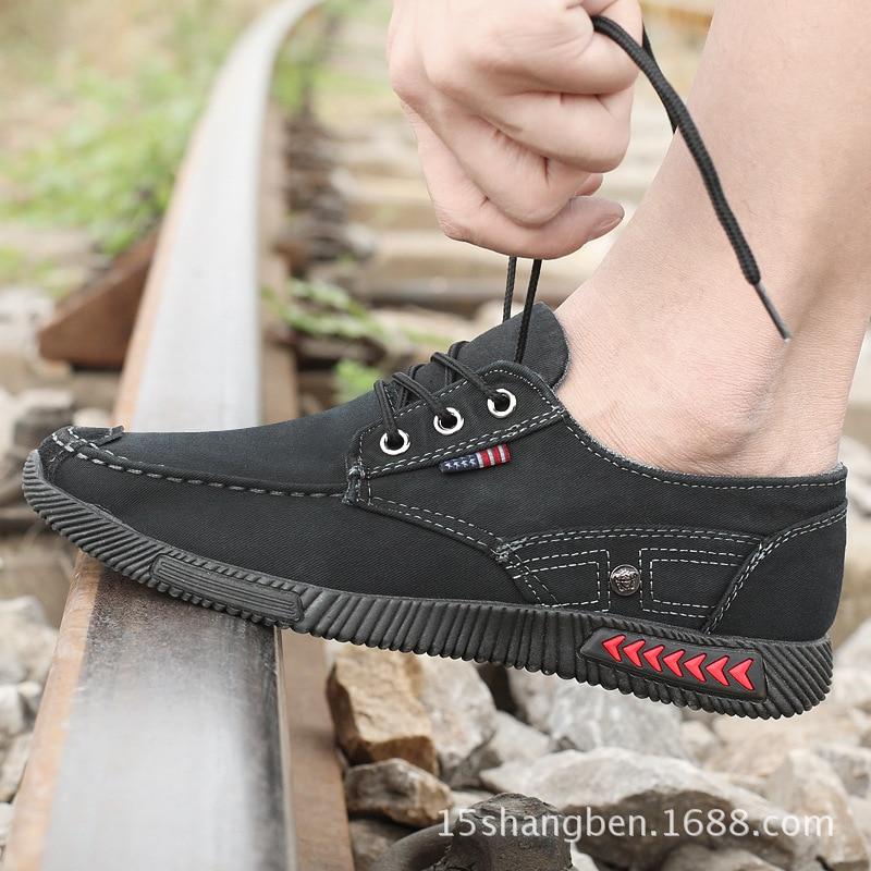 Cordones Denim Transpirables Calzado Verano 2018 Hombres De Zapatillas Negro gris Con Lona Primavera azul Zapatos Nueva Casuales nqpqSxR