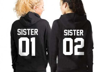 Sugarbaby Sister 01 02 Hoodies Sisters Sweatshirt Best Friends Bff gift Clothing Drop ship