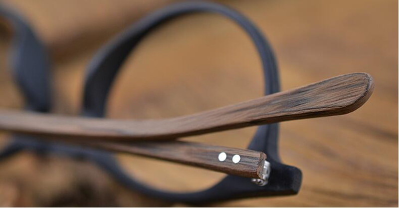 Image 2 - 60's Vintage Wood Brown Oval Eyeglass Frames Full Rim Hand Made Glasses Spectacles Men Women Myopia Rx able Brand New-in Men's Eyewear Frames from Apparel Accessories