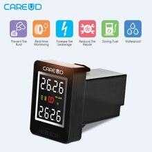 CAREUD U912 font b TPMS b font Wireless Auto Car Tire Pressure Monitoring System 4 Sensors