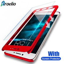 Proelio 360 Full Protection Case For Xiaomi Redmi Note 4 4X Hard PC Protective Case For Xiaomi mi 6 Redmi 5 note 5 With Glass(China)