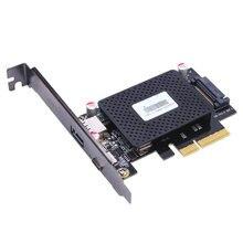 Desktop 10 ГБ/сек. USB 3.1 Type-C + USB Быстрое Изменение Порта PCI-e 4x Карты PCIe к внешним USB-C адаптер оптовая